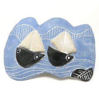 Ceramic Ship Plaque | Dawn Isaac