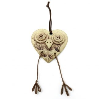 Quirky Owl Hanging Decoration | Dawn Isaac