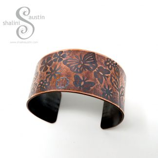 FLUTTERBY MEADOW Copper Cuff | Shalini Austin