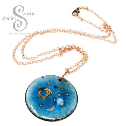 Round Copper Pendant GALAXY 01 | Shalini Austin