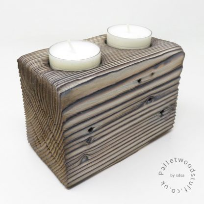 Reclaimed Wood Tealight Holder 10 | Palletwood Stuff