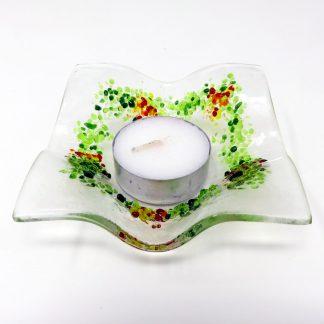 Festive Tea light Holder n Green & Red | Anita Ruiz