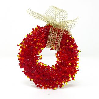 Red Glass Wreath Christmas Decoration