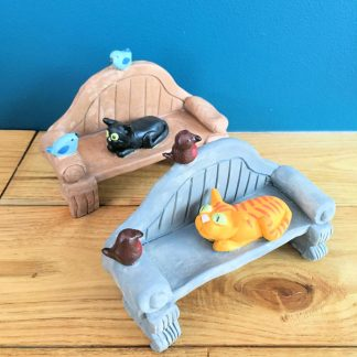 Ceramic Cat on a Bench   Fiona Hodges