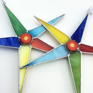 Multicoloured Large Stained Glass Star | Cathi Prince