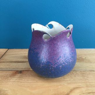Purple Wave Top Pot | Snail Pottery