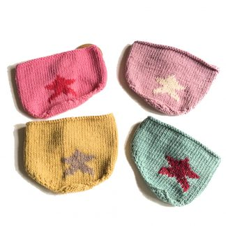 knitted star bib