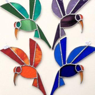 Stained Glass Bird Decoration