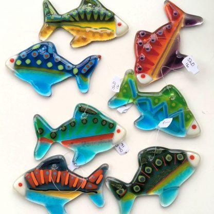 fused glass fish