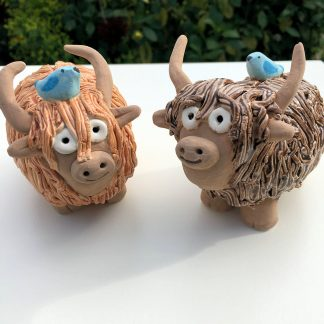 ceramic highland cow