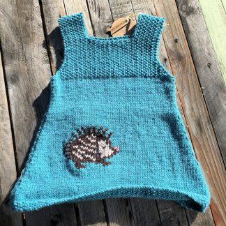 Blue Hedgehog Dress | Sew Fun in the Attic