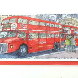 Routemasters at Victoria Station Card | Karen Neale