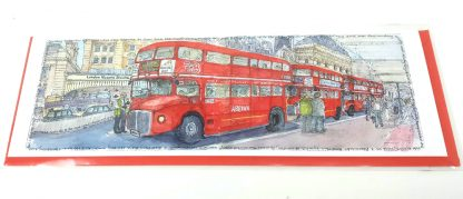 Routemasters at Victoria Station Card   Karen Neale