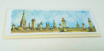 Chimneys and Church Spires Card | Karen Neale