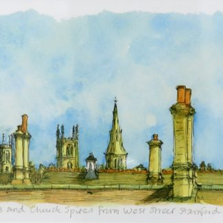 Chimney and Church Spires Limited Edition Print | Karen Neale