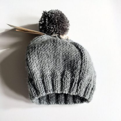 Grey Bobble Hat with Sheep 0-3 months