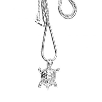 Fine Silver Turtle Pendant | Lesley Adolphson