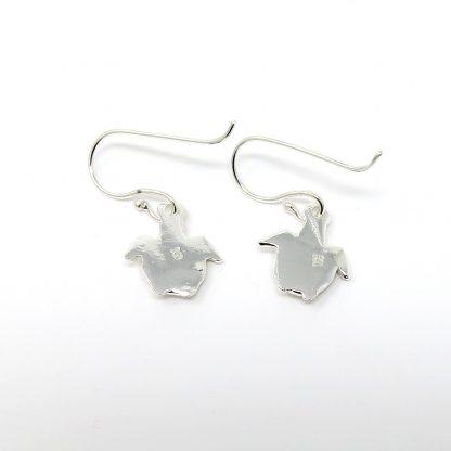 Fine Silver Turtle Earrings | Lesley Adolphson