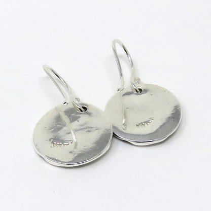 Fine Silver Disc Earrings | Lesley Adolphson