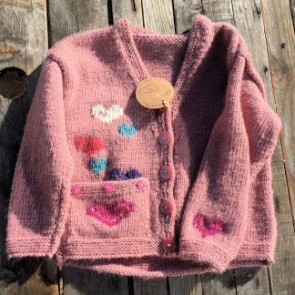 Hearts Pink Cardigan