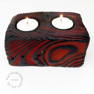 Reclaimed Wood Tealight Holder 02 | Palletwood Stuff