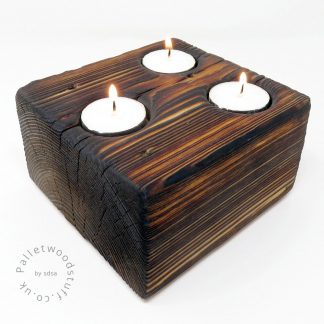Pallet Wood Block Tealight Holder 01 | Palletwood Stuff