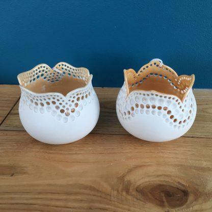 Porcelain Pierced Pot