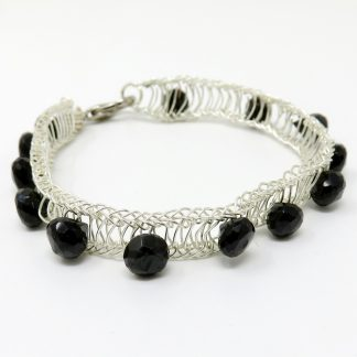 Faceted Briolettes Handwoven Bracelet | Wendy Mclean
