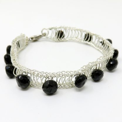 Faceted Briolettes Handwoven Bracelet | Wendy Mclean